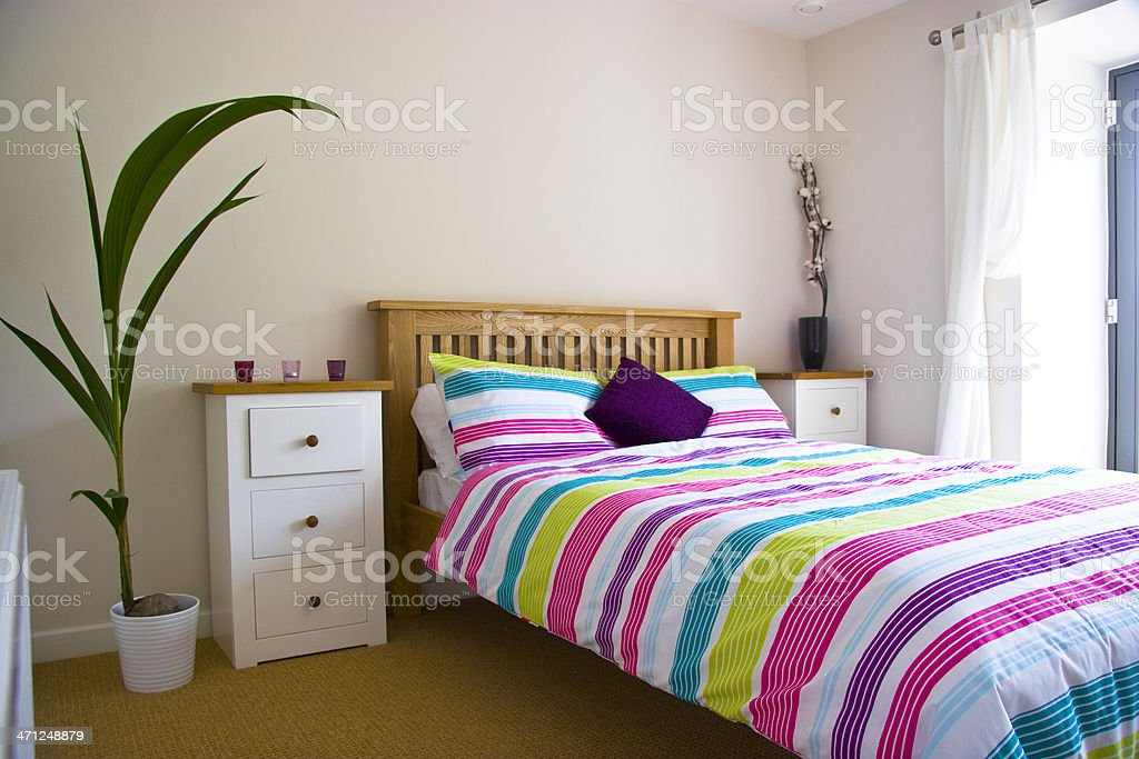 Colourful Bedroom stock photo