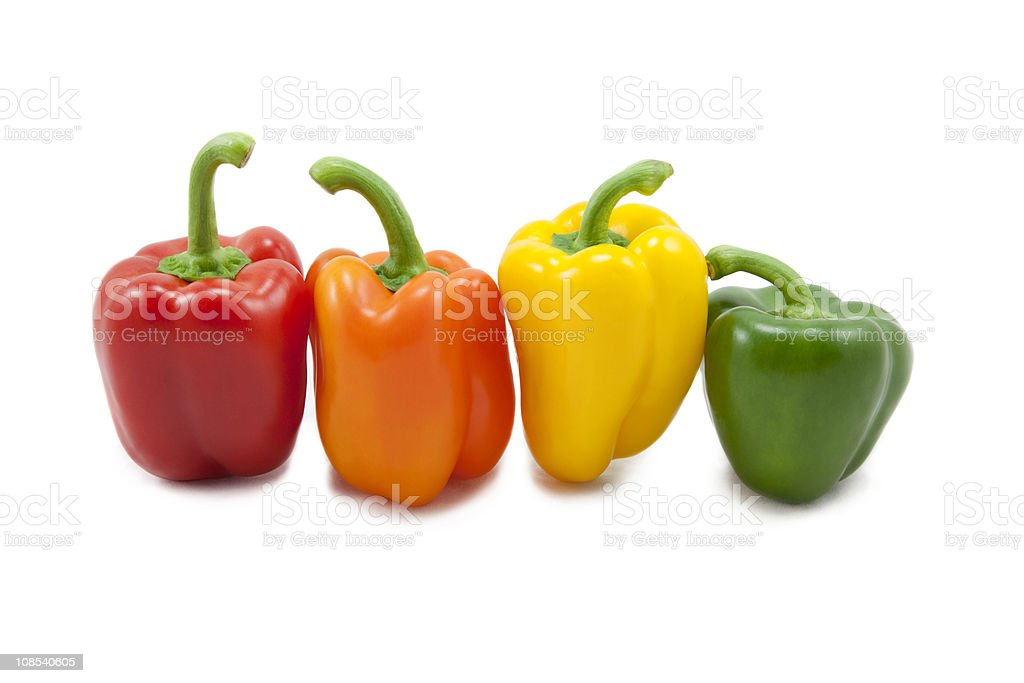 Colourful Bell Peppers stock photo