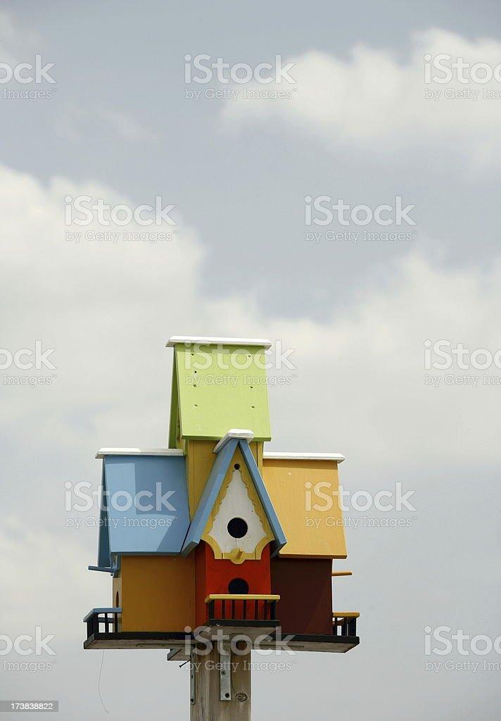 Colourful Birdhouse royalty-free stock photo