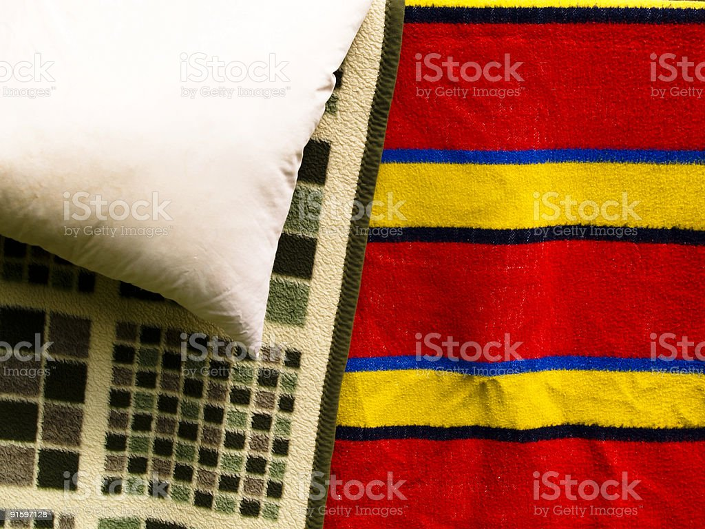 Colourful blanket royalty-free stock photo