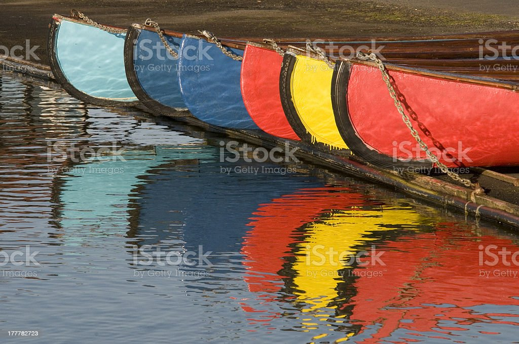 colourful Boats stock photo