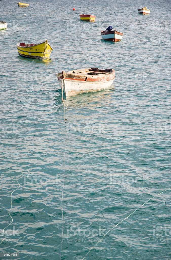 colourful boats. royalty-free stock photo