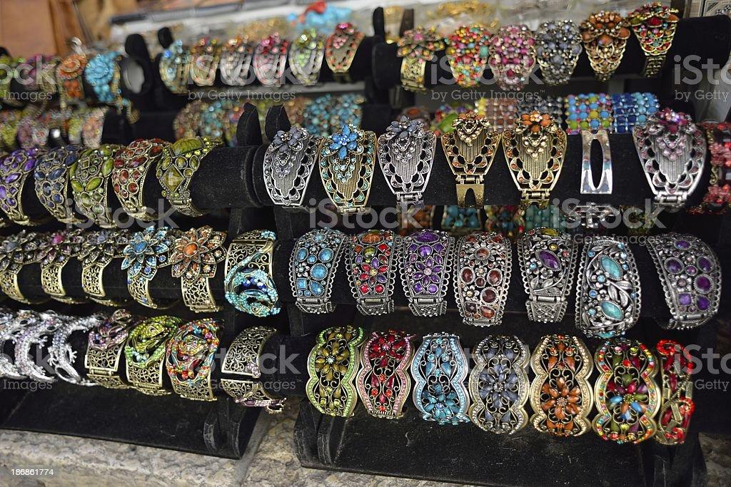 Colourful bracelets royalty-free stock photo