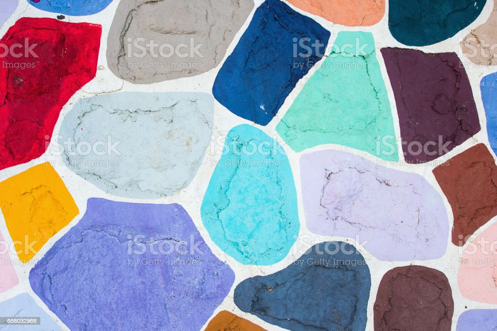 Colourful brick wall. Background and texture. stock photo