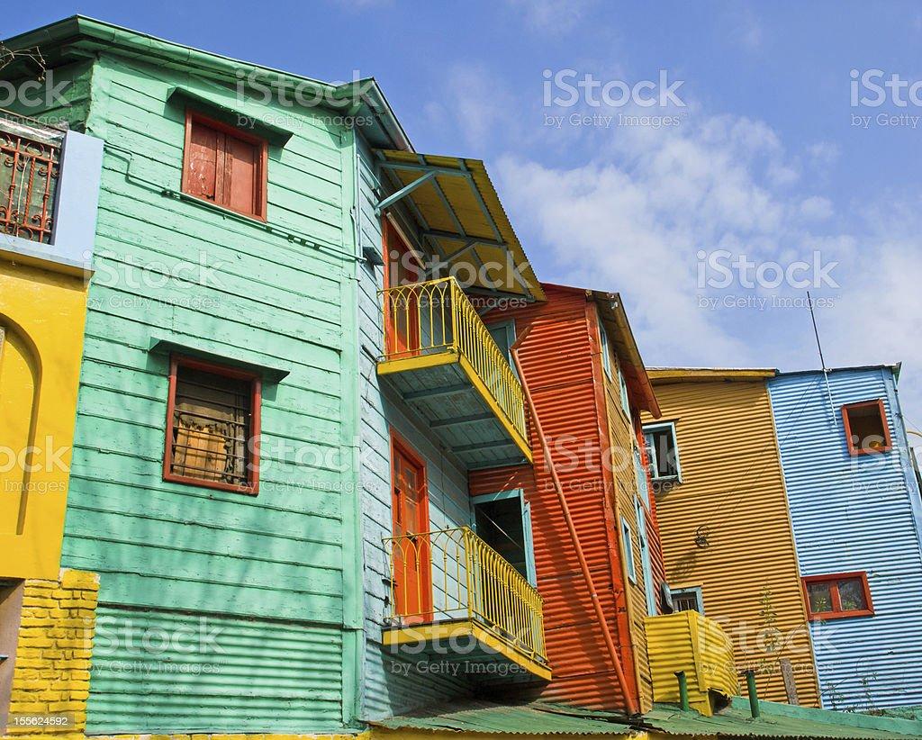 Colourful buildings in La Boca stock photo
