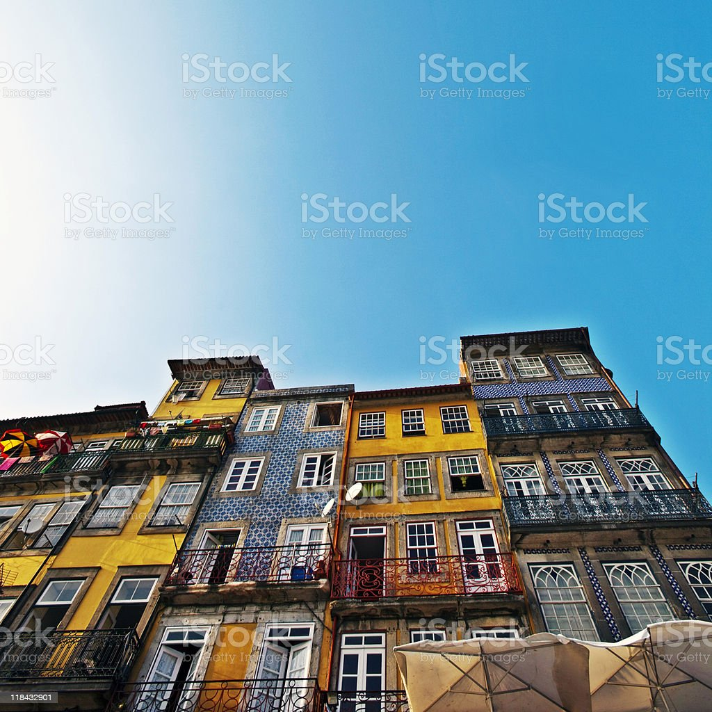 colourful buildings royalty-free stock photo