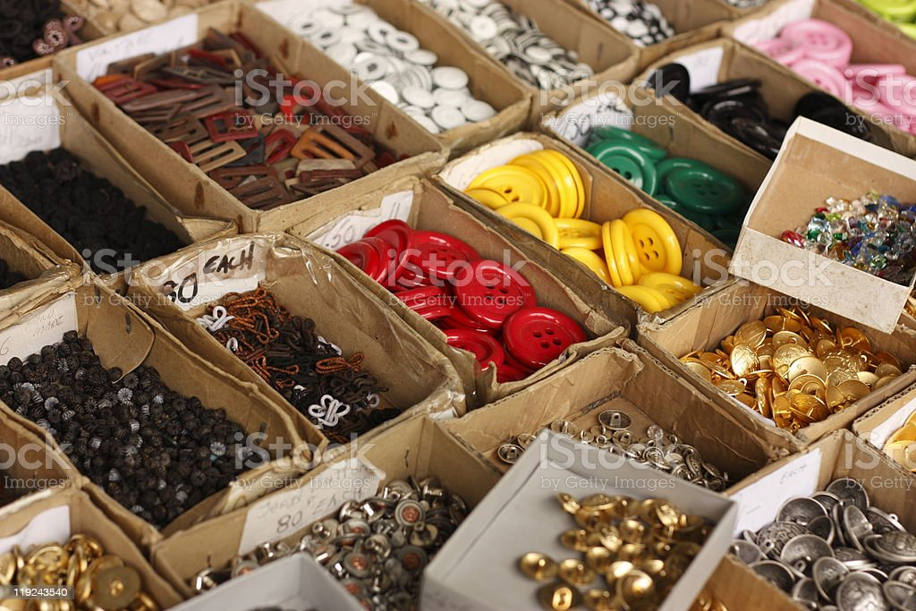 Colourful button collection royalty-free stock photo