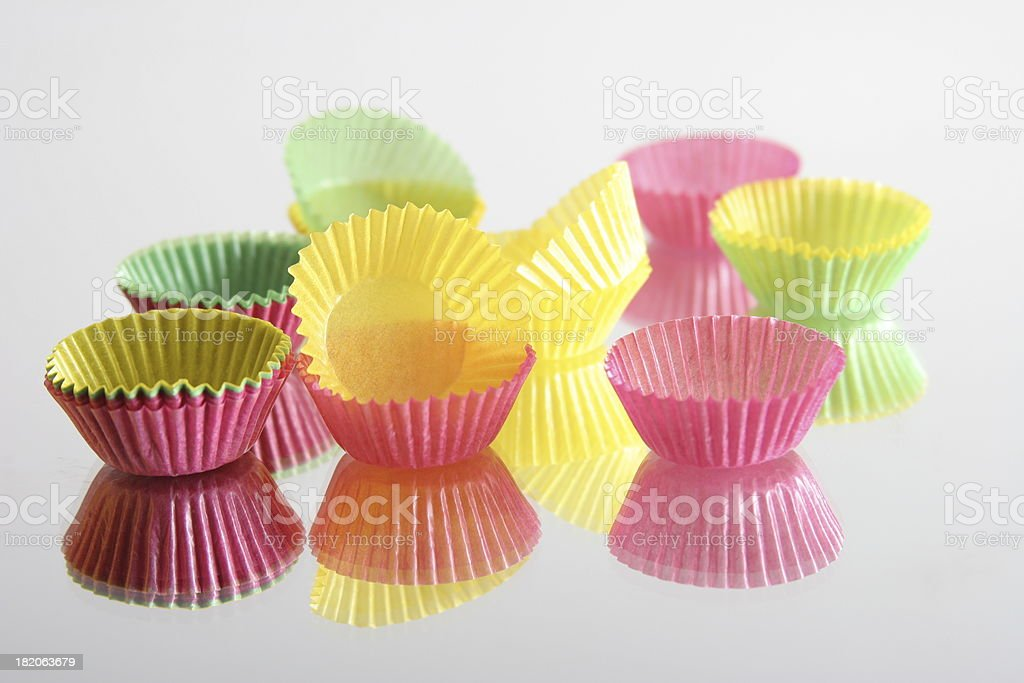 colourful cake cups royalty-free stock photo