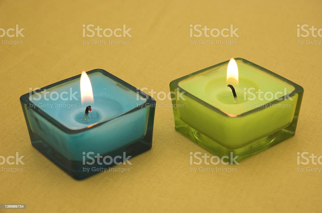 Colourful candles royalty-free stock photo
