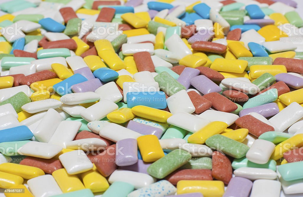 Colourful chewing gum texture stock photo