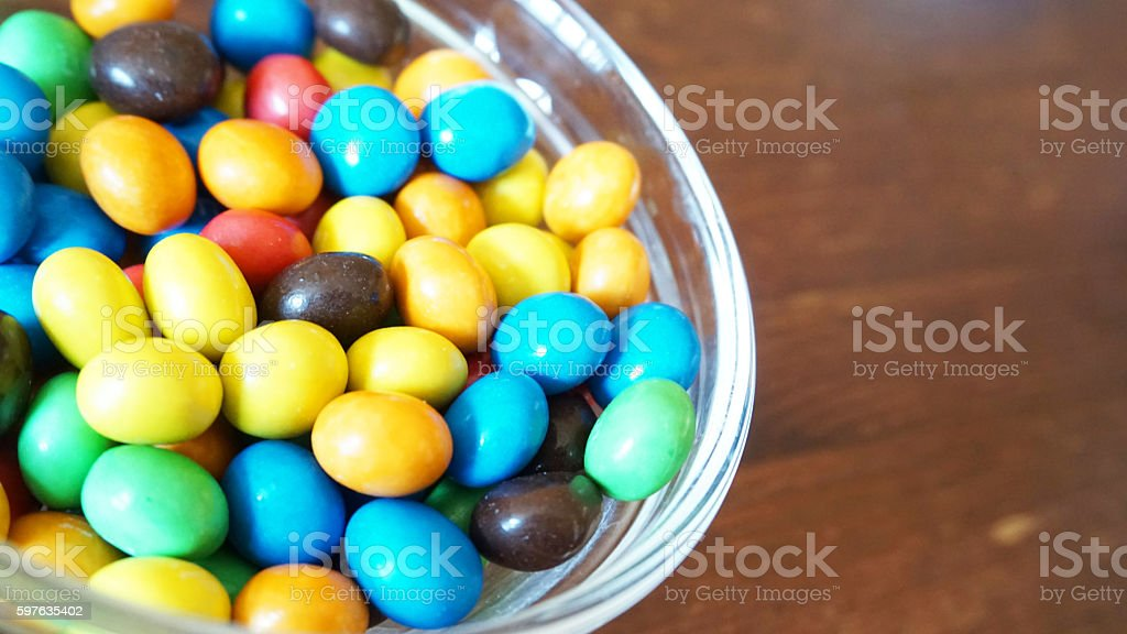 Colourful chocolate candy stock photo