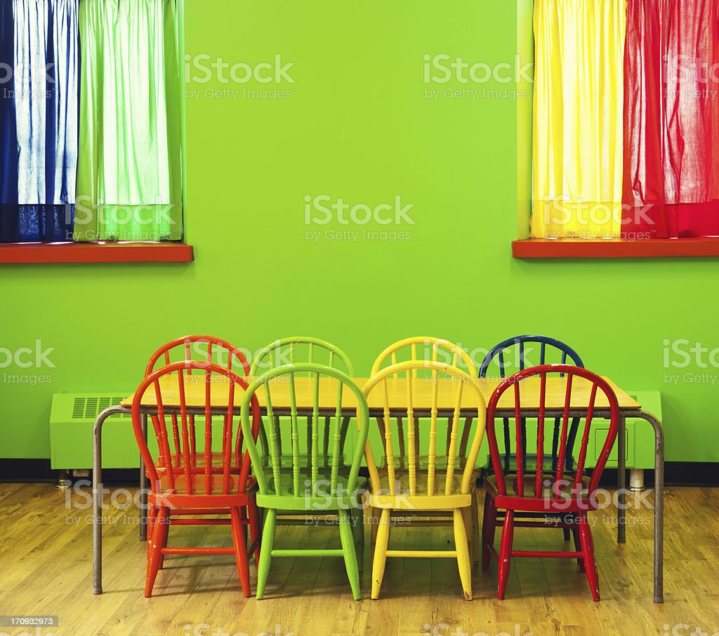 Colourful Classroom royalty-free stock photo