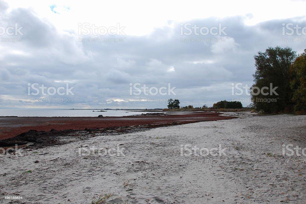 Colourful coastline stock photo