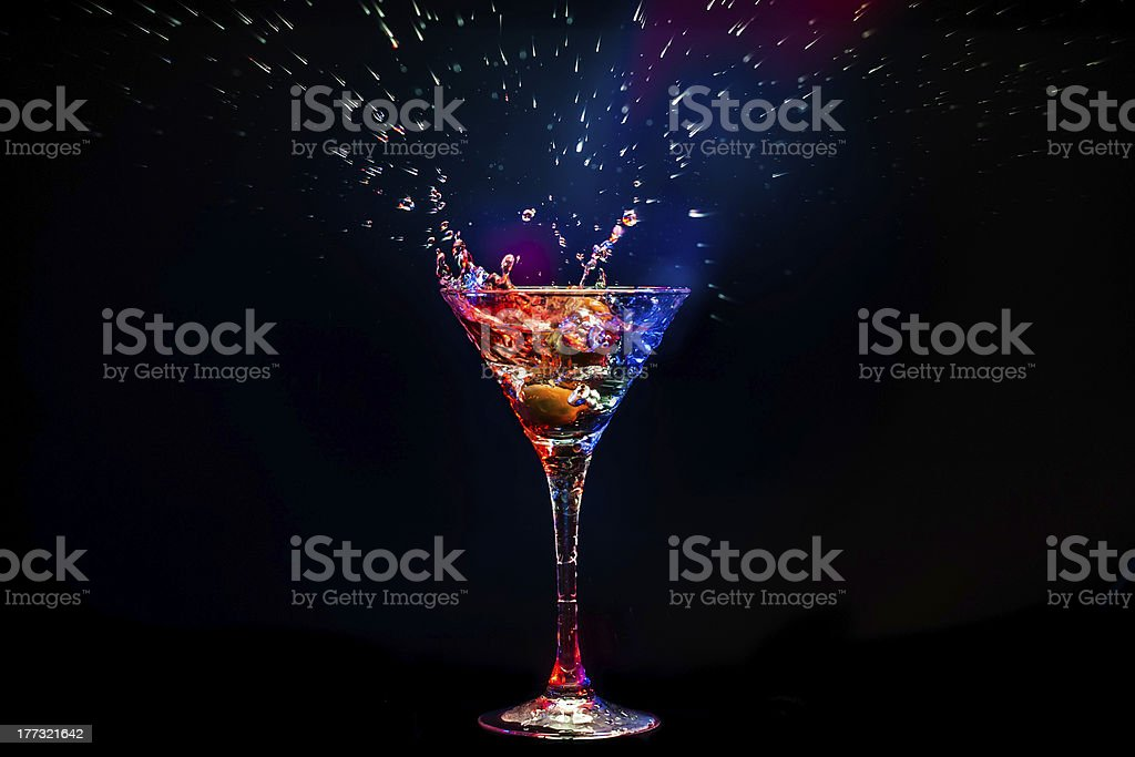 colourful coctail stock photo