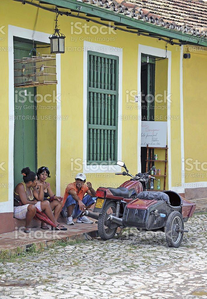 Colourful combination, Trinidad, Cuba stock photo