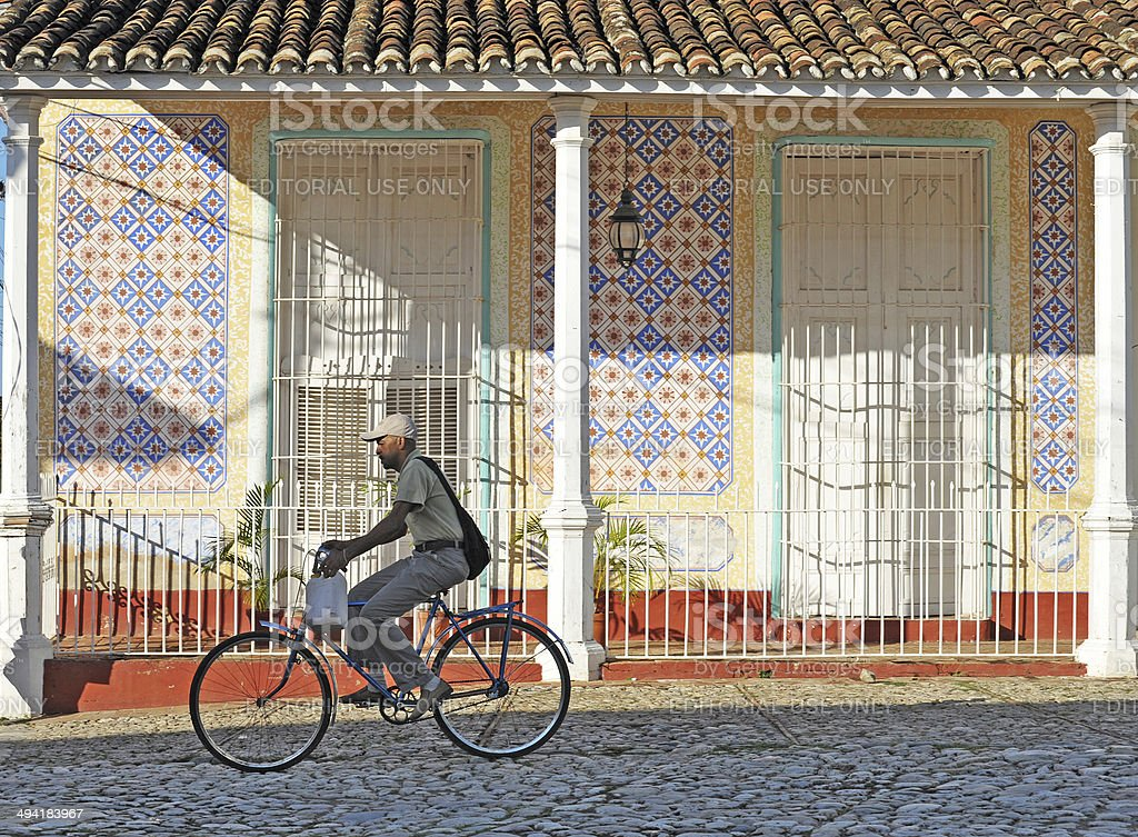 Colourful cycles, Trinidad, Cuba stock photo