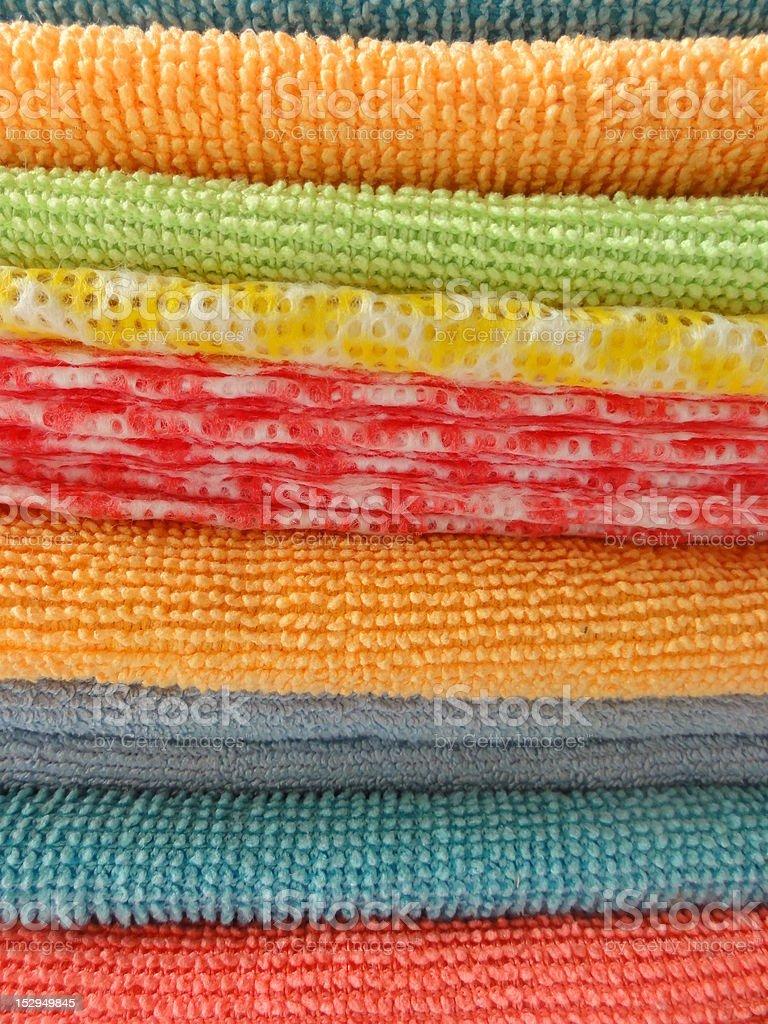 Colourful dishcloths stock photo