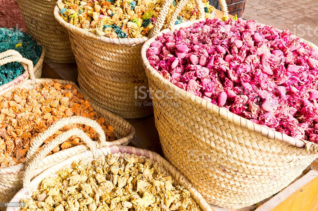 Colourful dried flowers royalty-free stock photo