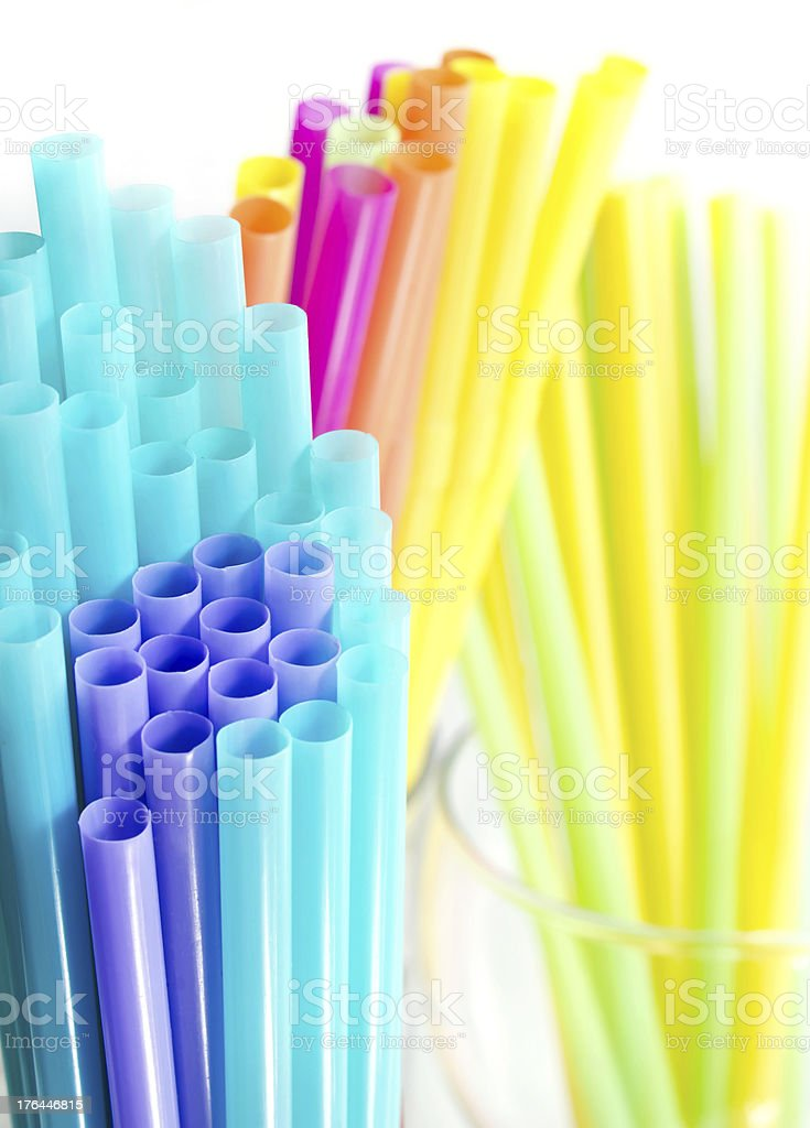 Colourful drinking straws royalty-free stock photo
