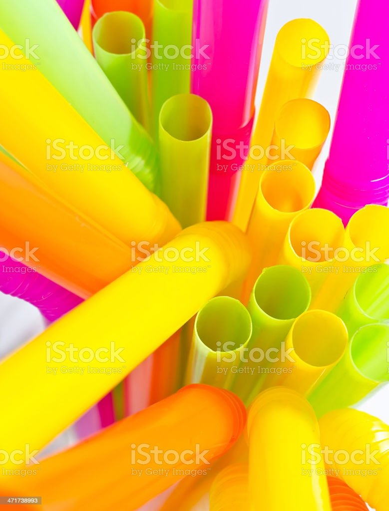 Colourful drinking straws royalty-free stock photo