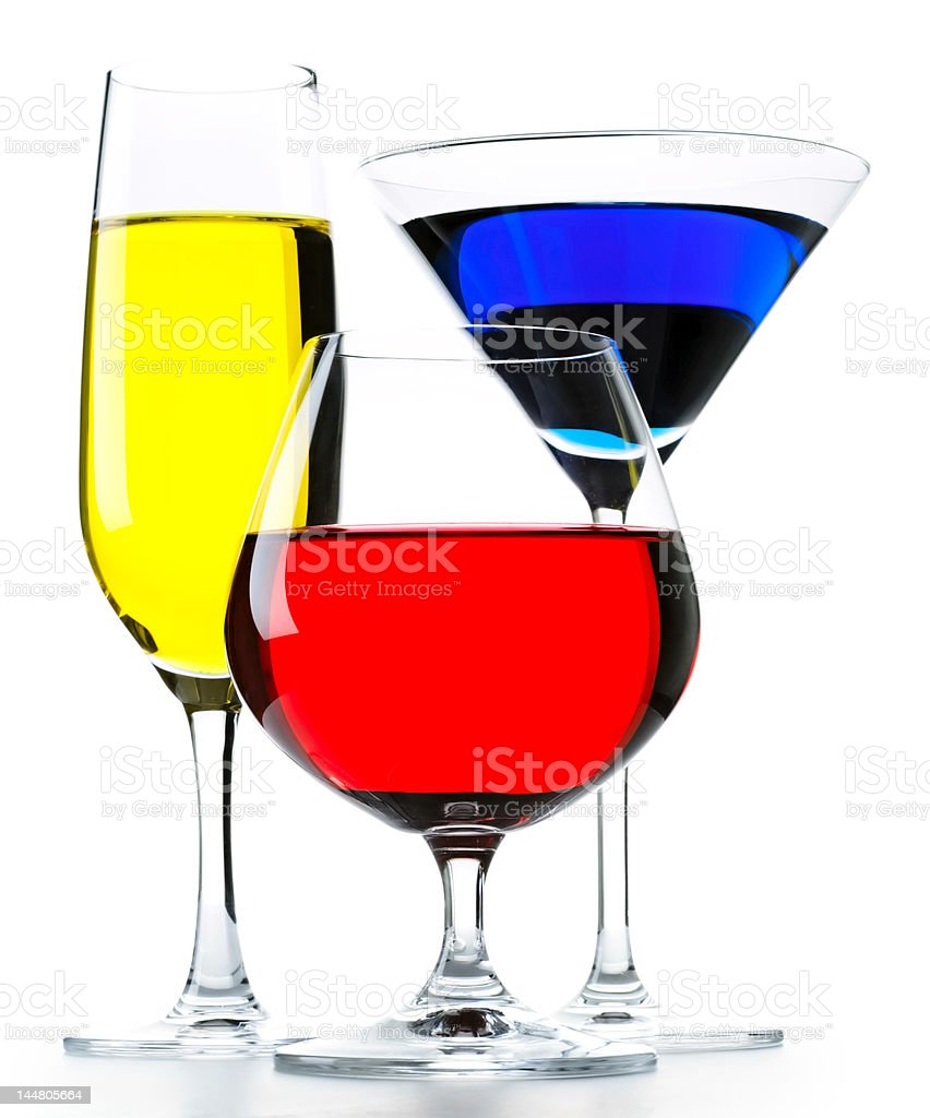 Colourful drinks royalty-free stock photo