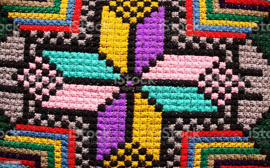 colourful embroidery royalty-free stock photo