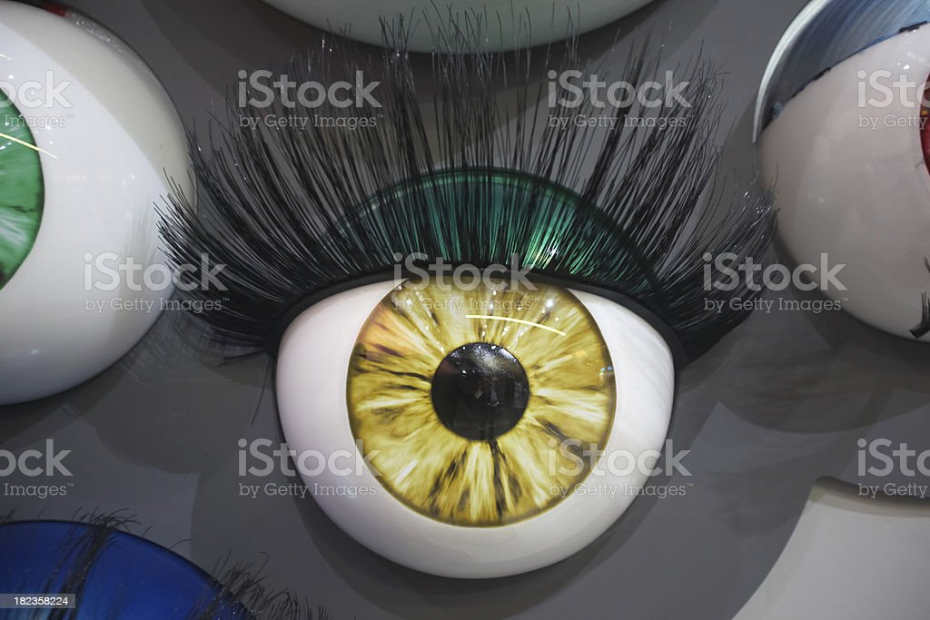 colourful eyes royalty-free stock photo