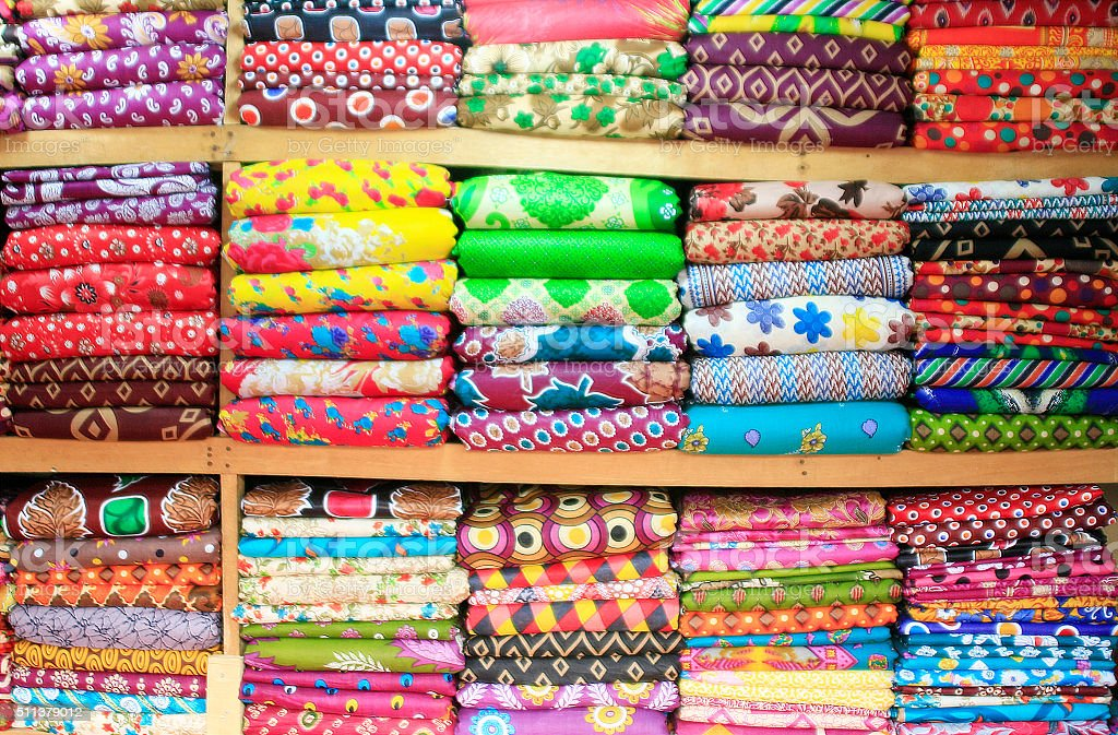 Colourful Fabric stock photo