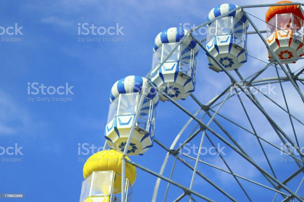 Colourful ferris wheel stock photo
