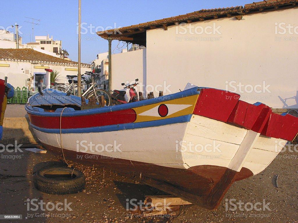 Colourful Fishing Boat royalty-free stock photo