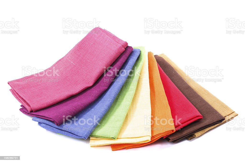 Colourful flax texrile heap royalty-free stock photo