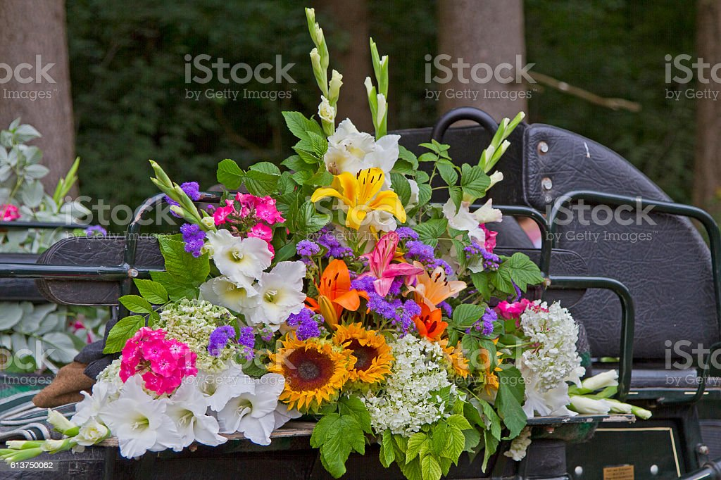 Colourful floral decoration stock photo