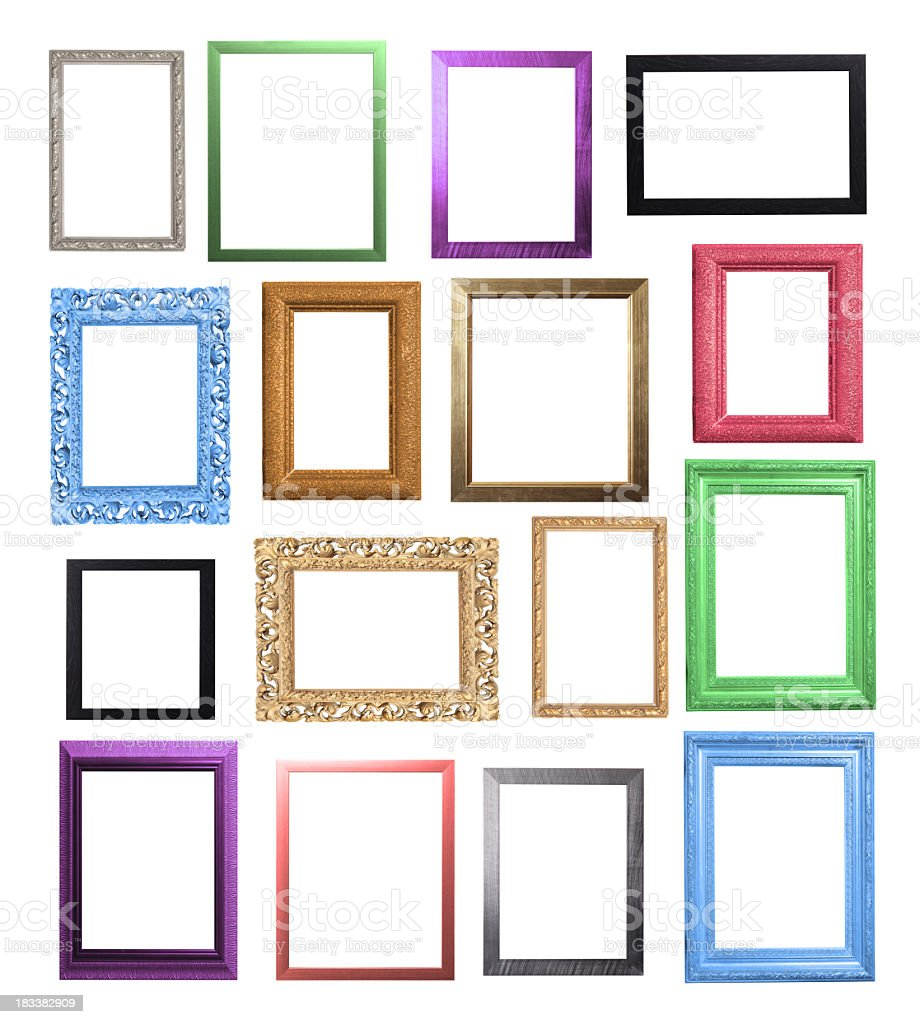 Colourful Frame Selection stock photo