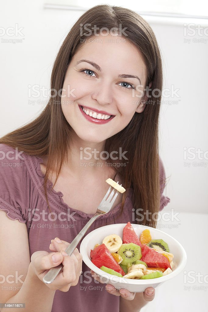 Colourful fruit plate royalty-free stock photo