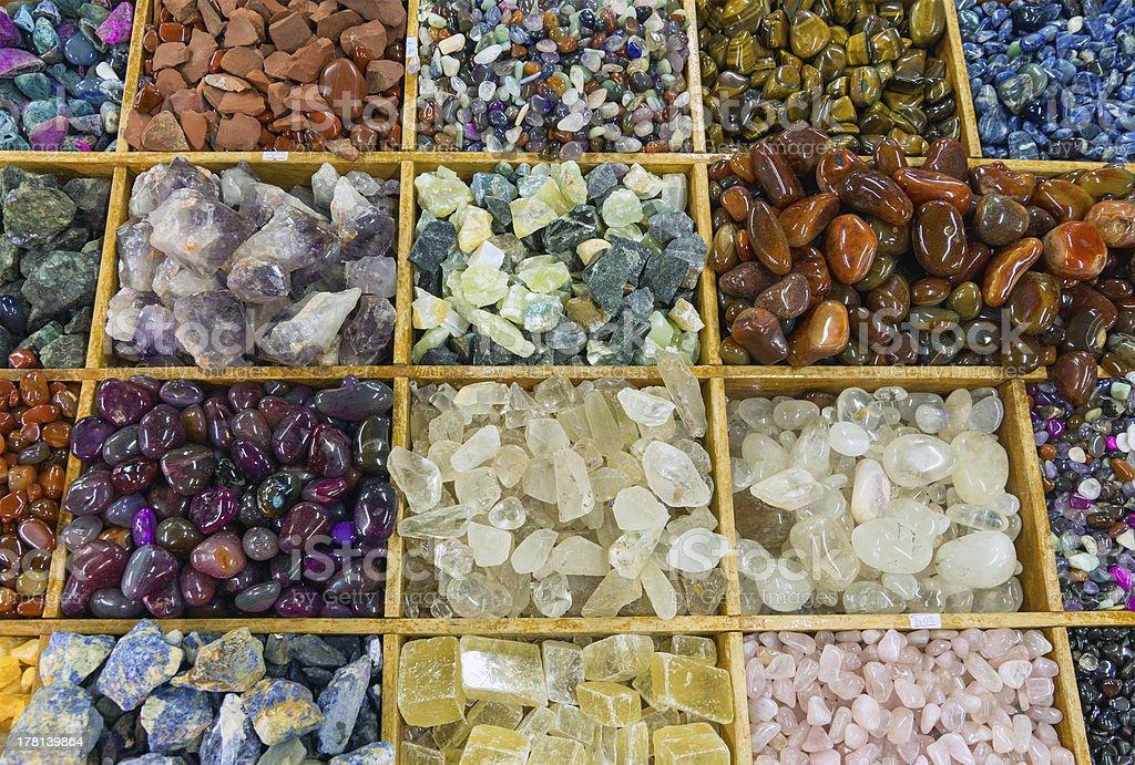 Colourful gemstones royalty-free stock photo
