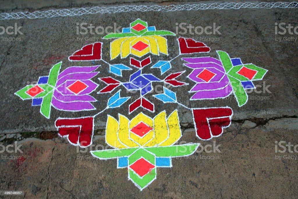 Colourful Geometric Pattern stock photo