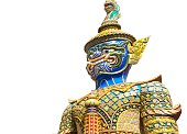 Colourful Giant Sculpture at Emerald Buddha Temple