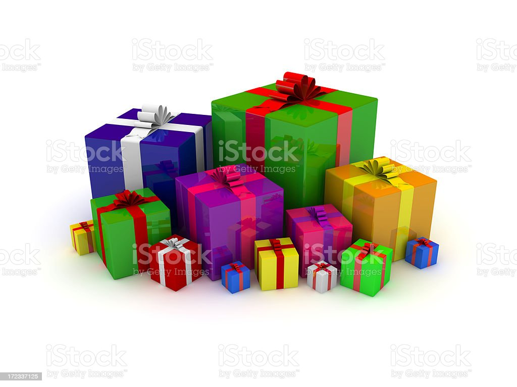 colourful gift boxes royalty-free stock photo