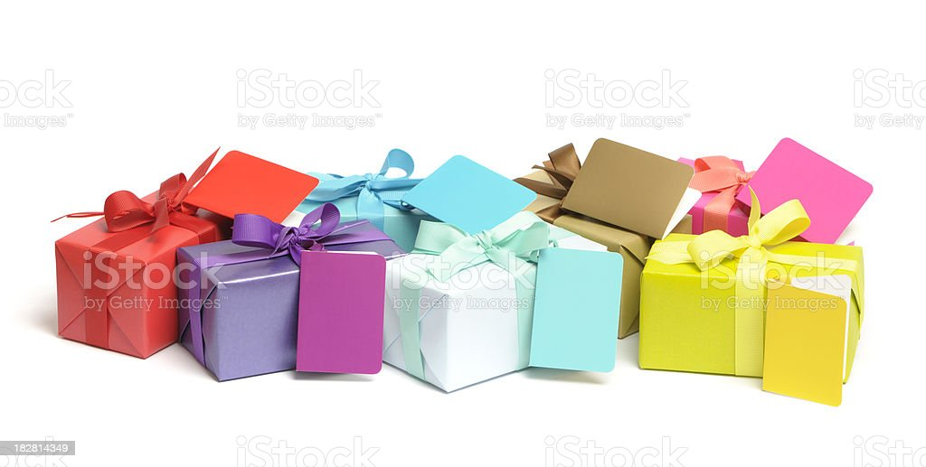 Colourful gifts royalty-free stock photo
