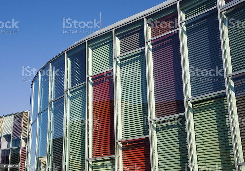 Colourful glass facade stock photo