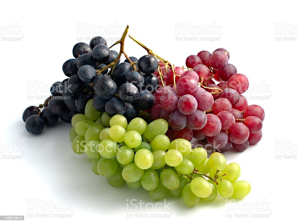 colourful grapes stock photo