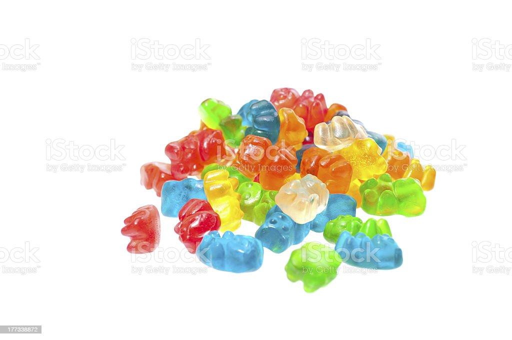 Colourful gummy bears stock photo