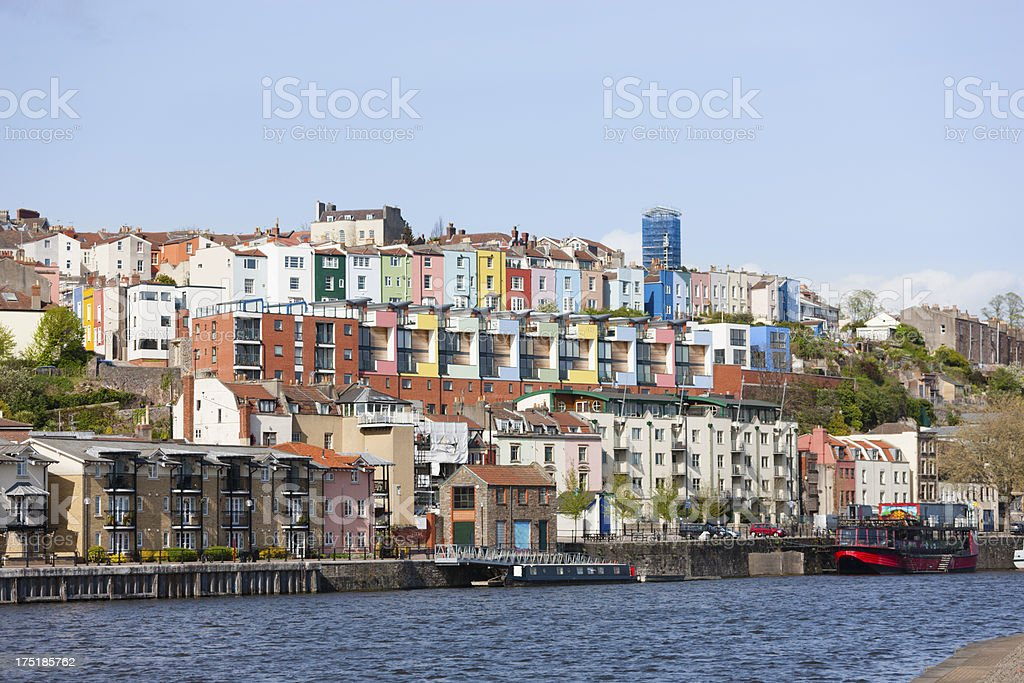 Colourful Harbourside Houses royalty-free stock photo