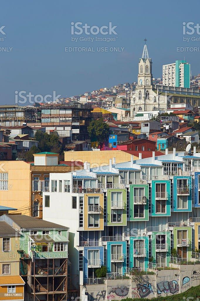 Colourful Hillsides of Valparaiso stock photo