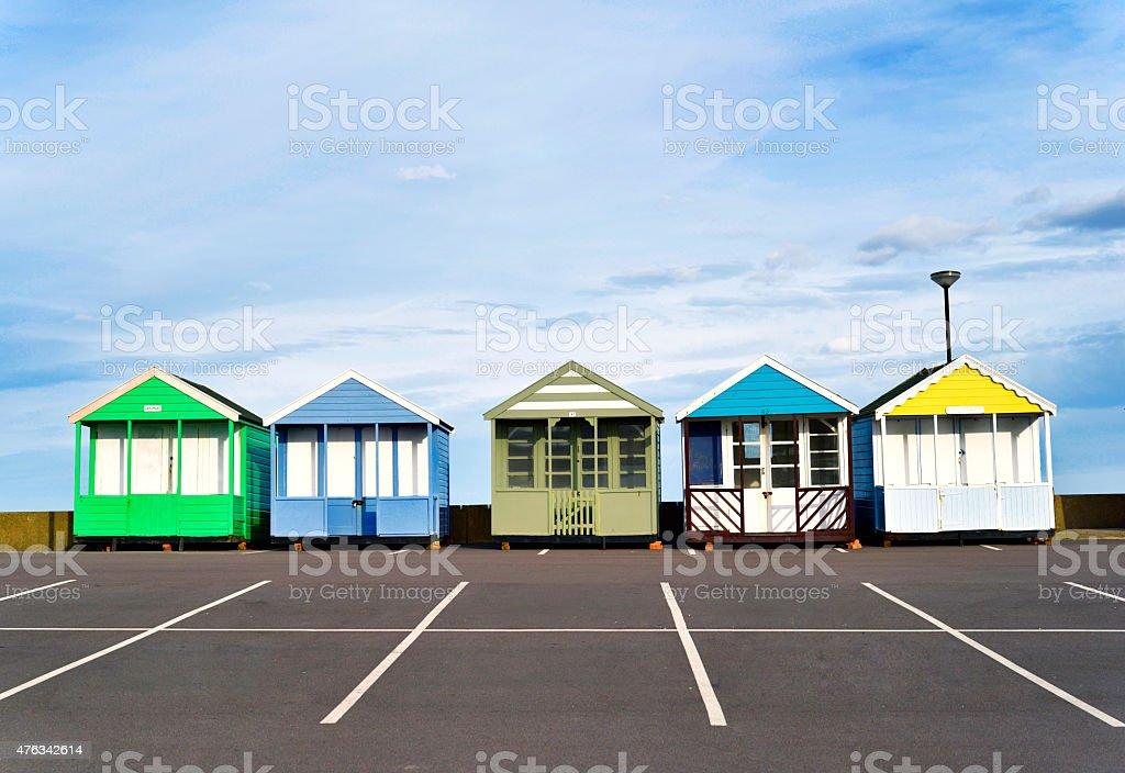Colourful holiday resorts royalty-free stock photo