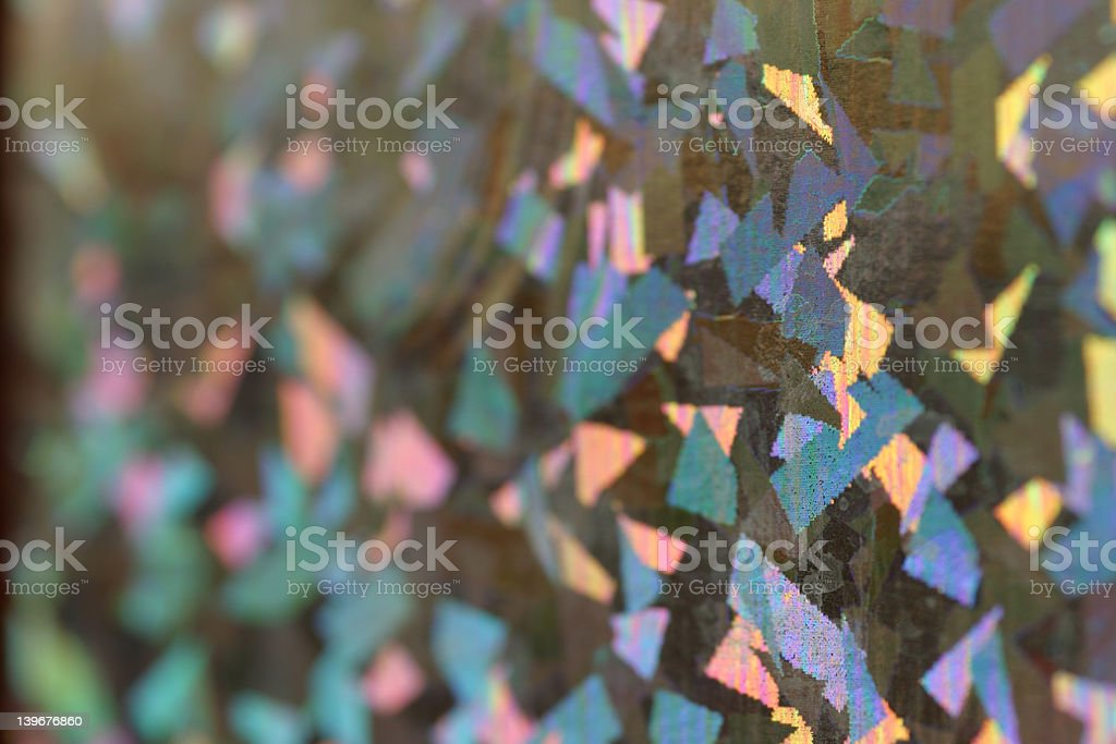 Colourful holographic wrapping paper royalty-free stock photo