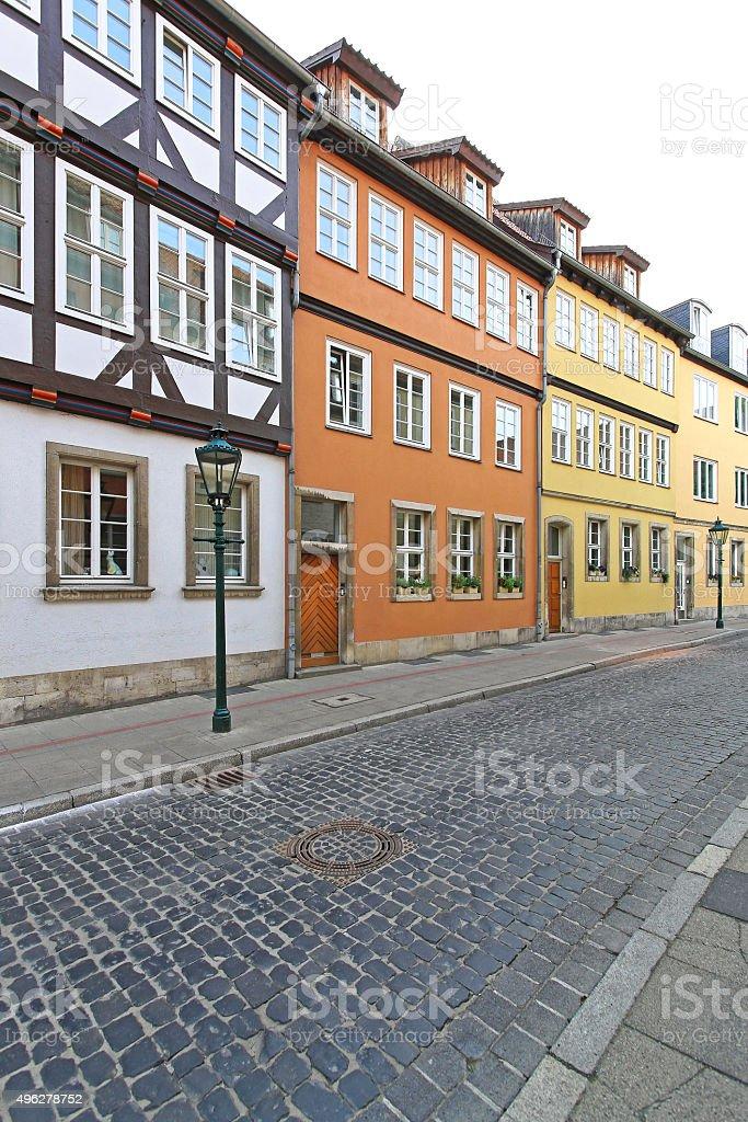 Colourful Houses Hanover stock photo