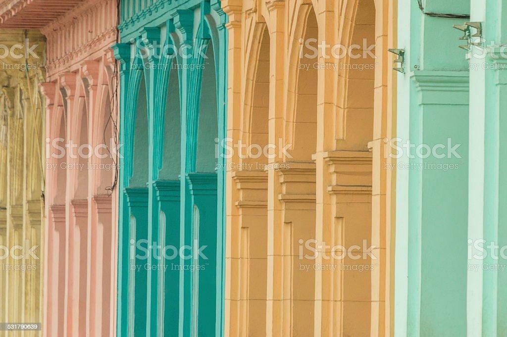 Colourful houses in Havanna, Cuba stock photo