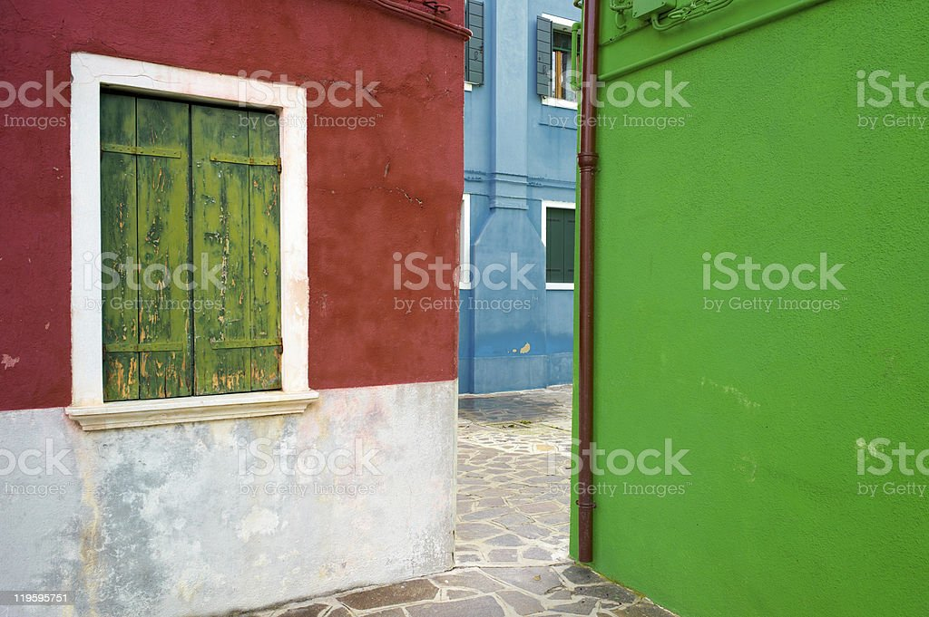 Colourful houses of Burano. Italy royalty-free stock photo