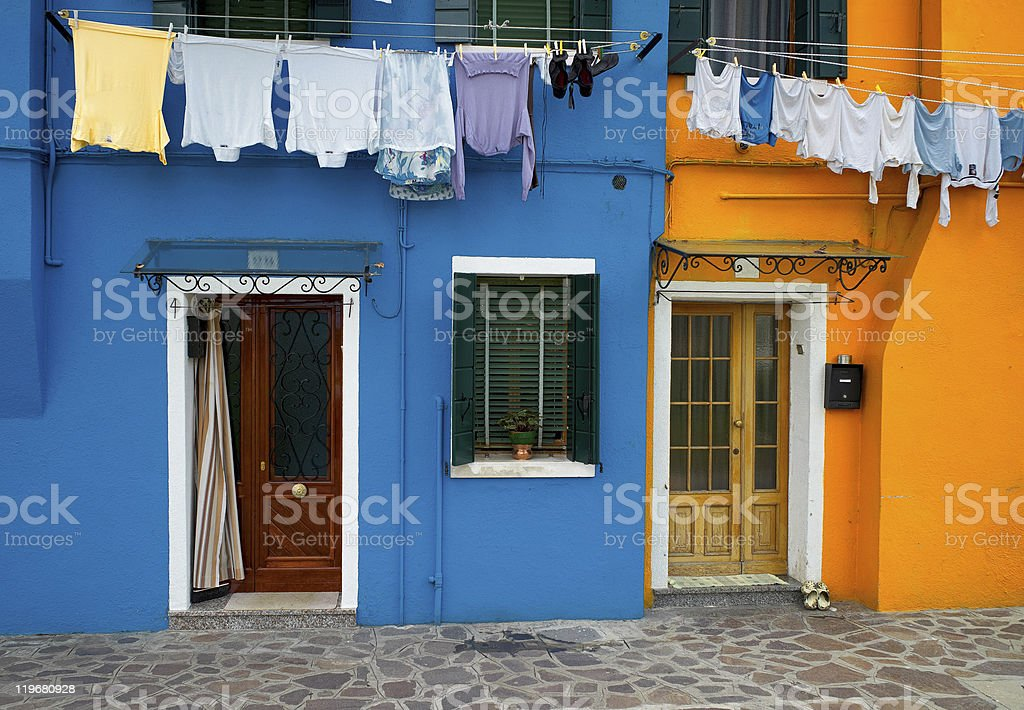 Colourful houses of Burano stock photo